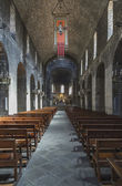 Ripoll monastery Interior overview — Stock Photo