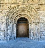 Ripoll monastery original facade — Stock Photo