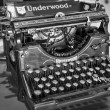 Antique manual Underwood typewriter — Stock Photo