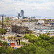 Panorama of the city of Barcelona Spain — Foto Stock
