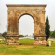 Triumphal arch of Bera in Tarragona, Spain. - Stock Photo