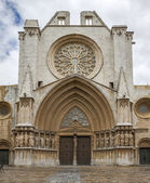 Tarragona Cathedral. One of most famous places of province. Catalonia, Spain. — Stock Photo