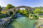 Roman stone bridge in Cangas de Onis — Stock Photo