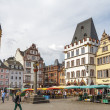Market square in Trier Germany — Stock Photo