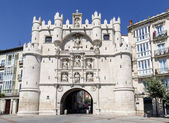Arch Santa Maria gateway to the city of Burgos Spain — Stock Photo