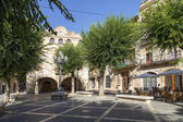 Square in the medieval town of Montblancl, Tarragona Spain — Stock Photo