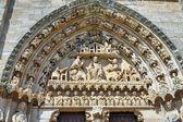 Iglesia de santa maria la gerçek, sasamon, i̇spanya — Stok fotoğraf