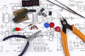 Electronics components — Stock Photo