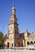 North Tower at The Plaza de Espana Spain Square, Seville, Spain — Stock Photo