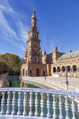 Plaza de Espana - Spanish Square in Seville, Spain — Stockfoto