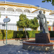 Matador Curro Romero statue in Seville — Stock Photo #37151511