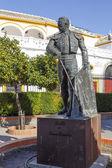 Matador Curro Romero statue in Seville — Stock Photo
