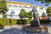 Matador Curro Romero statue in Seville — Stock Photo