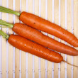 Stock Photo: Freshly washed whole carrots