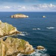 Stock Photo: Rocks at coast of north of  Asturias, Spain.