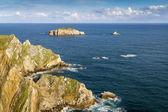 Rochers de la côte du nord d'asturias, espagne. — Photo
