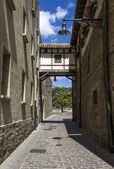 Detail of the cobbled streets of Pamplona  — Stock Photo