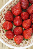Strawberries group — Stock Photo