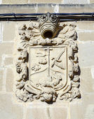 Stemma sassoso medievale in cuzcurrita — Foto Stock