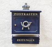 Mailbox post and newspapers — Foto de Stock