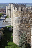 Medieval city walls in Avila — Stock Photo