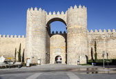 Gate in the city walls of Avila — Stock Photo