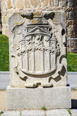 Coat of arms belonging to the walls of Avila — Stock Photo