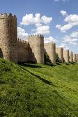 Scenic medieval city walls of Avila — Stock Photo