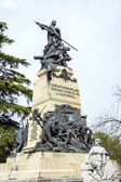 Monument in front of the Alcazar castle in Segovia — Stockfoto