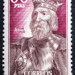 Stamp printed by Spain, shows Fernan Gonzalez — Stock Photo