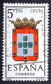 Arms of Provincial Capitals shows Ceuta — Stock Photo