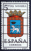 Arms of Provincial Capitals shows Navarra — Stock Photo