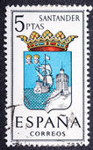 Arms of Provincial Capitals shows Santander — Stock Photo