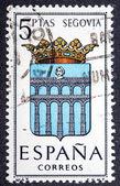 Arms of Provincial Capitals shows Segovia — Stock Photo