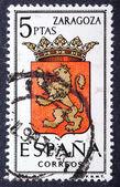 Arms of Provincial Capitals shows Zaragoza — Stock Photo
