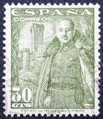 General Franco and Castillo de la Mota — Stock Photo
