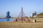 Barceloneta Beach in summer — Stock Photo