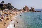 Tossa de mar stranden, spanje — Stockfoto