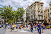 Rambla street in Barcelona, Spain — Stock Photo
