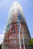Torre agbar in barcelona — Stockfoto