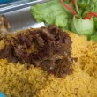 Stock Photo: Rice with buried goat meat - islamic food