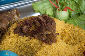 Rice with buried goat meat - islamic food — Stock Photo