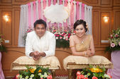 Asian thai wedding ceremony bride and bridegroom — Foto de Stock