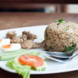 Royalty-Free Stock Photo: Spicy fried rice with fried fish with salted egg