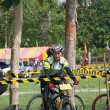 YALA, THAILAND - APRIL 1: Unidentified womrides mountain bike — Stock Photo #13773282