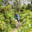 YALA, THAILAND - APRIL 1: Unidentified boy rides mountain bike f - Stock Photo