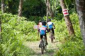 YALA, THAILAND - APRIL 1: Unidentified boy rides mountain bike f — Stockfoto