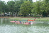YALA, THAILAND - AUG 29: Row Boat racers race for competition in — Stock Photo