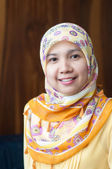 Asian Muslim female with scarf — Stock Photo