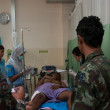 YALA, THAILAND - FEBUARY 23: Unidentified soldier injury from ti — Stock Photo